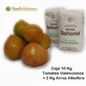 Tomate Valenciano 10 Kilos + 2 Kg Arroz Albufera