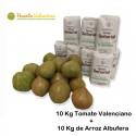 Tomate Valenciano 10 Kg + 10 Kg Arroz Albufera